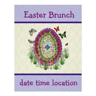 Rainbow Jewels Easter Egg Flyer Design