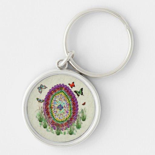 Rainbow Jewels Easter Egg Keychain