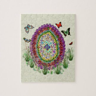 Rainbow Jewels Easter Egg Jigsaw Puzzle
