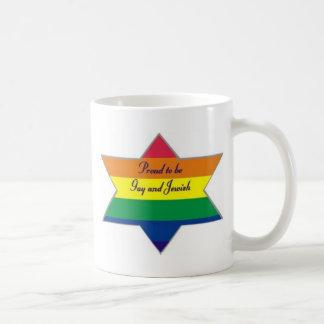 Rainbow Jewish Star Coffee Mugs