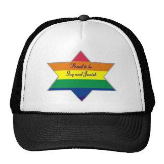 Rainbow Jewish Star Hat