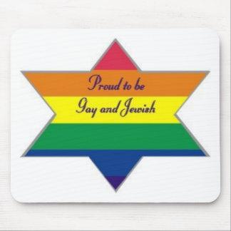 Rainbow Jewish Star Mouse Pad