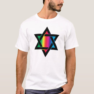 Rainbow Jewish Star of David T-Shirt