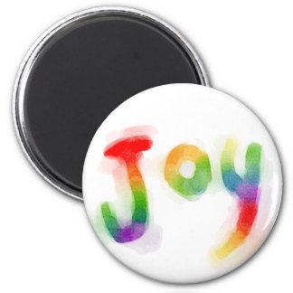 Rainbow Joy 2 Inch Round Magnet