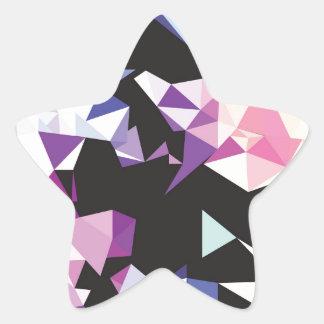Rainbow.jpg quebrado pegatina en forma de estrella