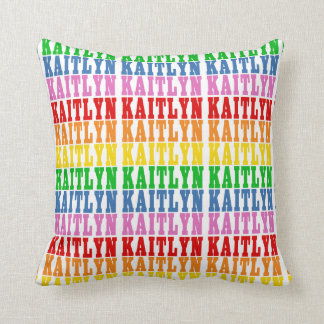 Rainbow Kaitlyn Throw Pillow