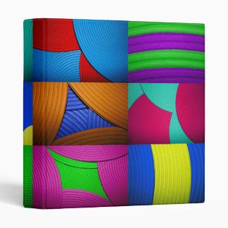 "Rainbow Kaleidoscope 1"" Avery Binder"