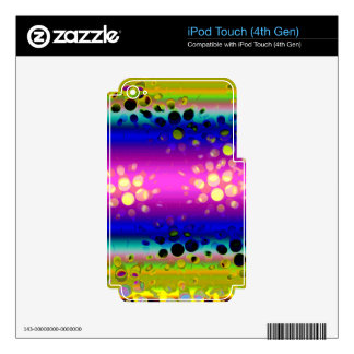Rainbow Kaleidoscope Dotted Bursts Pattern iPod Touch 4G Decal