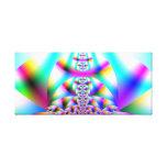 Rainbow Kaleidoscope Gallery Wrapped Canvas