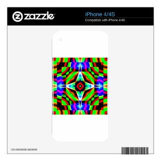 Rainbow Kaleidoscope Skins For iPhone 4