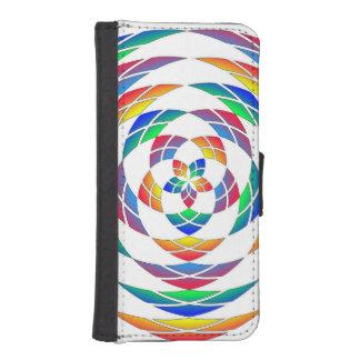 Rainbow Kaleidoscope Star wallet case iPhone 5 Wallet Case