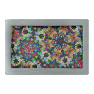 Rainbow Kaleidoscope Triangle Psychedelic Snap Belt Buckles