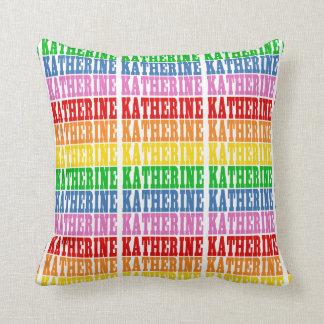 Rainbow Katherine Throw Pillow
