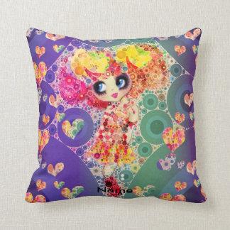 Rainbow Kawaii Girl PinkyP Harajuku style Pillow