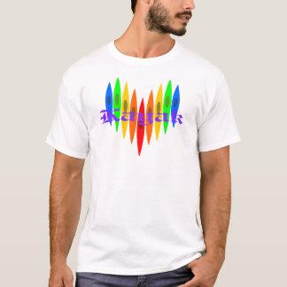 Rainbow Kayak Heart T-Shirt