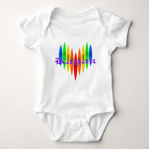 Rainbow Kayak Heart T Shirts
