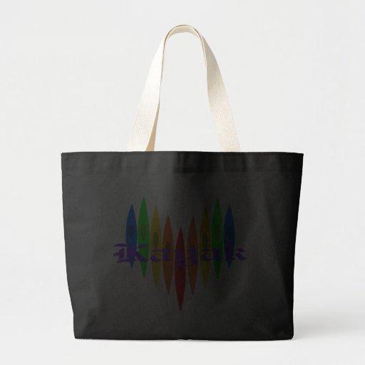 Rainbow Kayak Heart Tote Bag