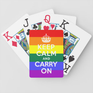 Rainbow Keep Calm and Carry On Bicycle® Playing Bicycle Playing Cards