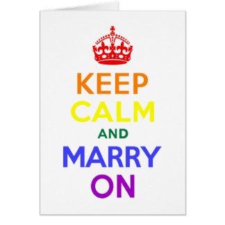 Rainbow Keep Calm and Marry On Card