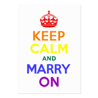 Rainbow Keep Calm and Marry On Large Business Card