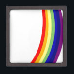 "Rainbow Keepsake Box<br><div class=""desc"">3&quot; Square Gift Box</div>"
