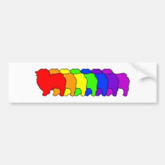 Rainbow Keeshond Bumper Stickers