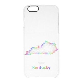 Rainbow Kentucky map Clear iPhone 6/6S Case