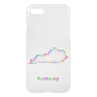 Rainbow Kentucky map iPhone 7 Case