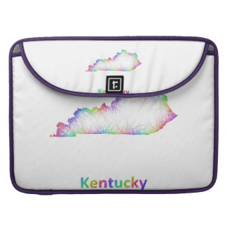 Rainbow Kentucky map MacBook Pro Sleeve