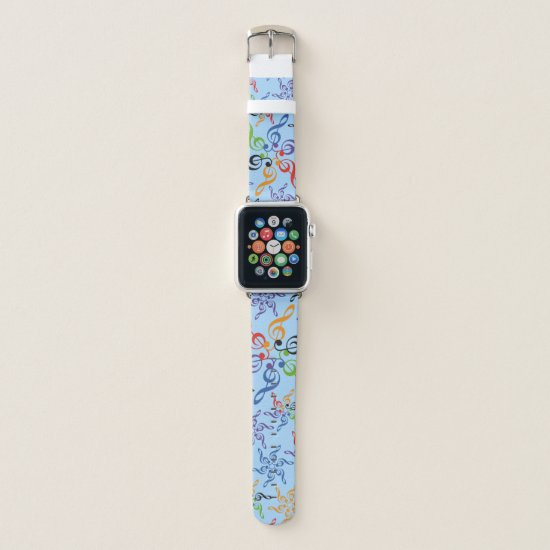 Rainbow Key Sun Music Apple Watch Band