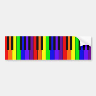 Rainbow Keyboard Bumper Sticker