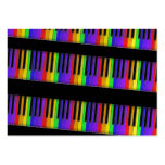 rainbow keyboard large business cards (Pack of 100)