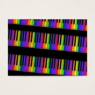 rainbow keyboard business card