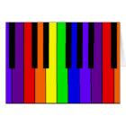 Rainbow Keyboard Card