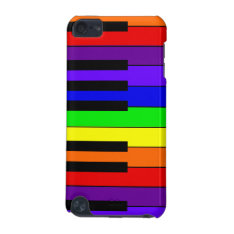 Rainbow Keyboard iPod Touch (5th Generation) Cover at Zazzle