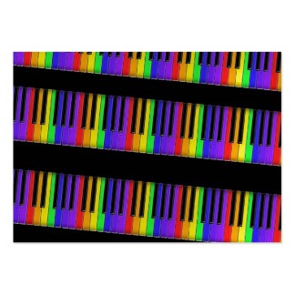 rainbow keyboard large business card