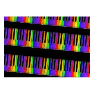 rainbow keyboard large business card