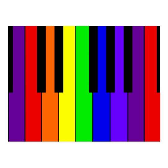 Rainbow Keyboard Postcard
