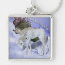 keychain, rainbow, fantasy, unicorns, unicorn, birthday, wedding, shower, Keychain with custom graphic design