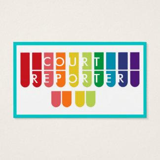 Rainbow keys court reporter custom business cards
