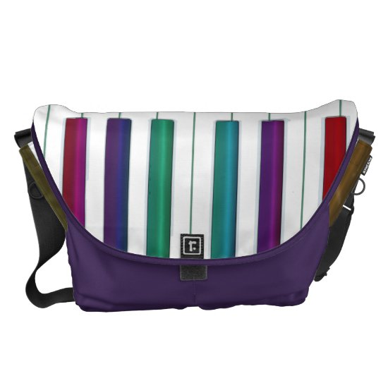 Rainbow Keys Piano Keyboard Music Messenger Bag