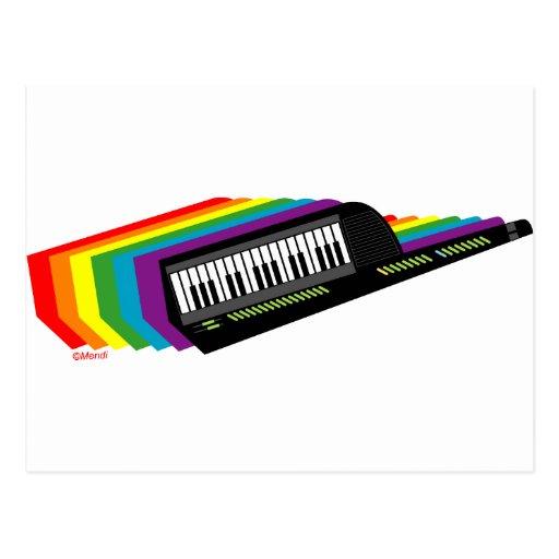 Rainbow Keytar Postcard
