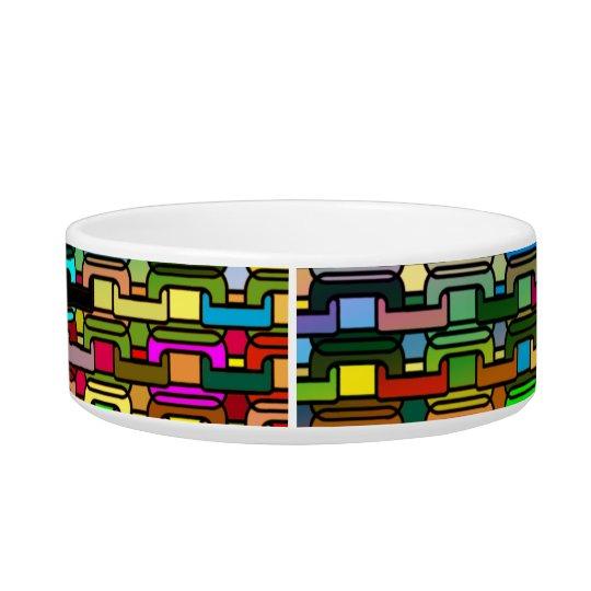 Rainbow Kibbles Bowl