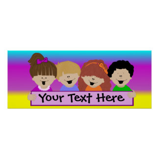 Rainbow Kids Daycare Banner Poster