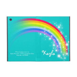 Rainbow kids girls name ipad mini powis case