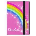 Rainbow kids girls name pink ipad mini powis case covers for iPad mini