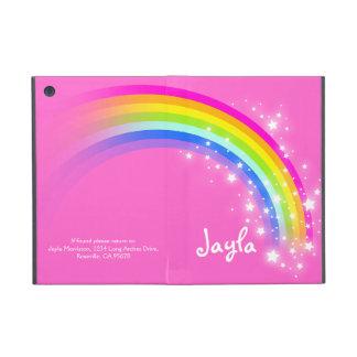 Rainbow kids girls name pink ipad mini powis case