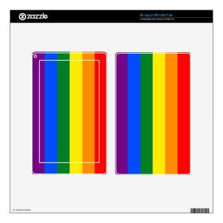 Rainbow Kindle Fire Decal