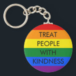 "Rainbow Kindness Keychain<br><div class=""desc"">Rainbow Keychain with the saying &quot;Treat People With Kindness&quot;</div>"