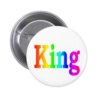 Rainbow King Button